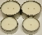 Soy Candle Tins These are made with 100% cotton wicks and 100% Pure Soy Wax. The 8oz Tin Candles have a burn time of 20-25 hours and the 16oz Tin Candle has a average burn time of 50 hours. These Soy Candle Tins have excellent scent throw.